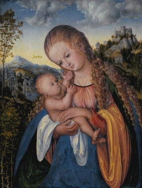 Lucas Cranach the Elder Madonna with Child, ca. 1518 Staatliche Kunsthalle Karlsruhe