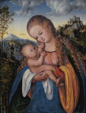 Lucas Cranach the Elder Madonna with Child, ca. 1518 Staatliche Kunsthalle Karlsruhe