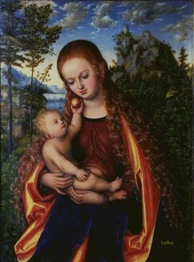 Lucas Cranach the Elder Madonna and Child  Głogów Madonna 1518