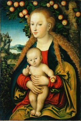 Lucas Cranach the Elder, Madonna with child under the apple tree. (1531) State Hermitage Museum, St. Petersburg