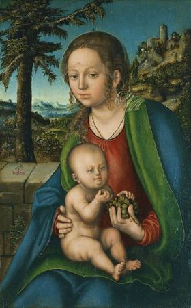 The Virgin with Child with a Bunch Grapes Museo Thyssen-Bornemisza