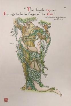 Walter Crane Shakespeares Garden Midsummer Nights