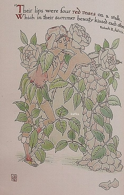 Walter Crane, Four red roses from Richard III