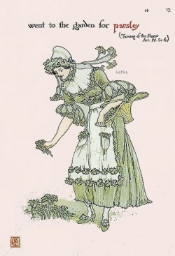 Walter Crane, Parsley from The Taming of the Shrew.