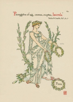 Walter Crane, Laurel from Troilus and Cressida.