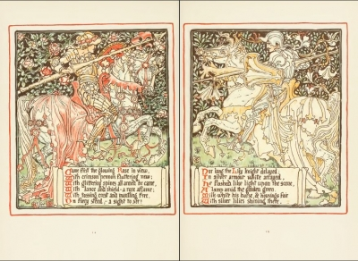 Queen Summer, or, The tourney of the lily & the rose (1891) by Walter Crane