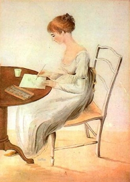 Portrait of niece Fanny Austen Knight drawn by Cassandra Austen
