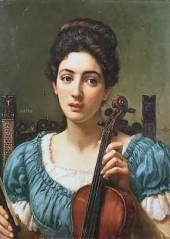 The Violinist by Sir Edward John Poynter, 1st Baronet, KB