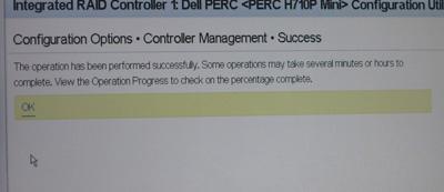 RAID構築 PERCH710