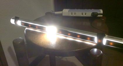 LEDで日食実験