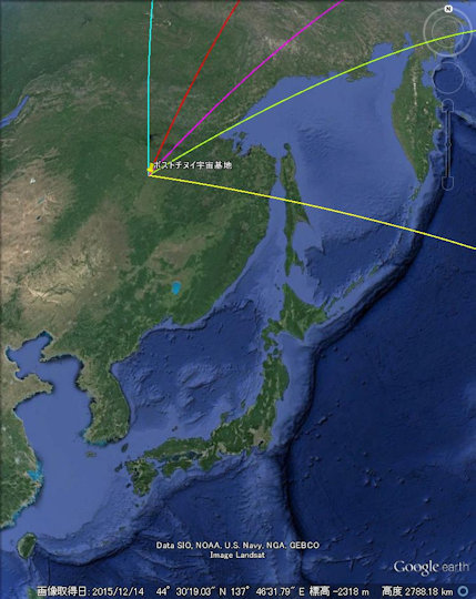 ボストチヌイ宇宙基地 ソユーズ 打ち上げ 軌道 日本から見えるか