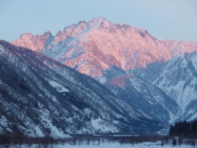 早月川・剣岳遠景