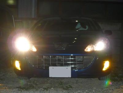 Peugeot,407,プジョー,フォグランプ