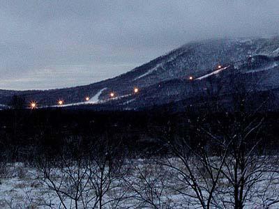 ビラオスキー場、朝の風景