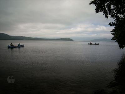 屈斜路湖でカヌー体験