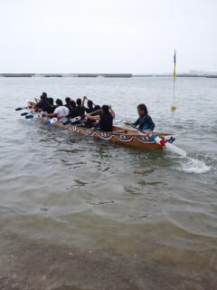 海神祭まであと4日、ハーリーの練習も白熱!!
