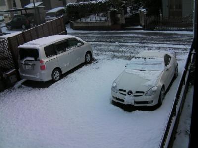 雪景色_隣の駐車場