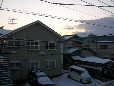 雪景色_家の東側