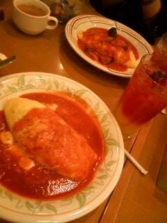 晩ご飯!オムライス美味^p^