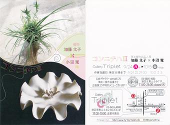 コンニチハ III 陶と植物の二人展 加藤文子 × 小沼寛