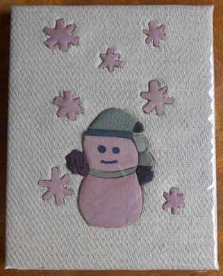 畳表製作物/雪だるま