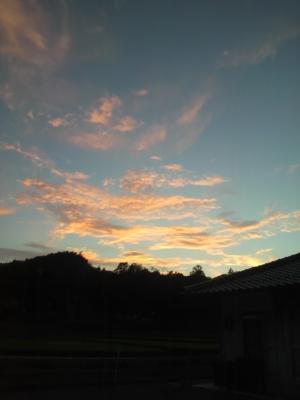 松が原の夕日
