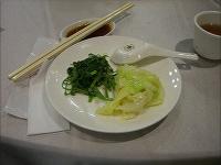 空芯菜とキャベツ