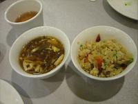 酸辣湯と焼き飯