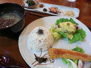 つぶつぶカフェ 日替りランチ 五色プチ菜