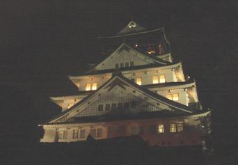 大阪城の夜