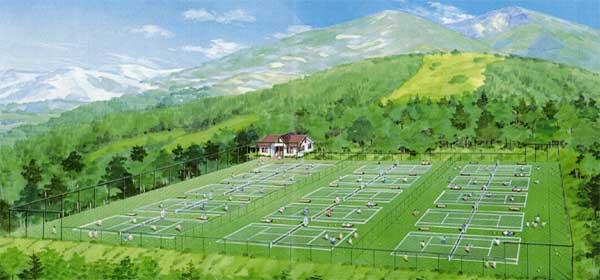 ホテル柄澤のテニスコート