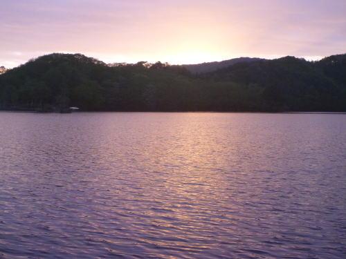 曽原湖の夕焼け
