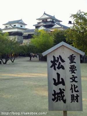 松山城・遠景