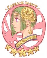 海軍の女神。ミュシャ風?