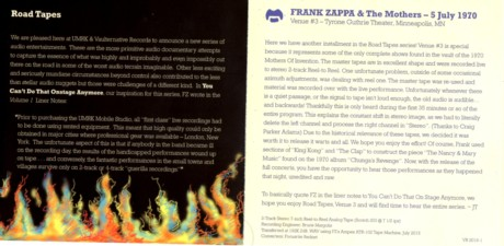 Frank Zappa road tapes3 4