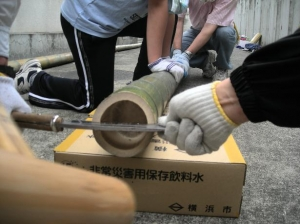 竹割り作業1