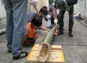 竹割り作業2