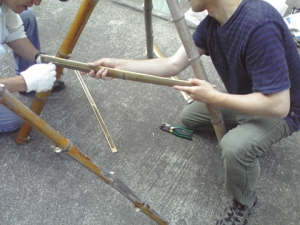 竹割り作業9