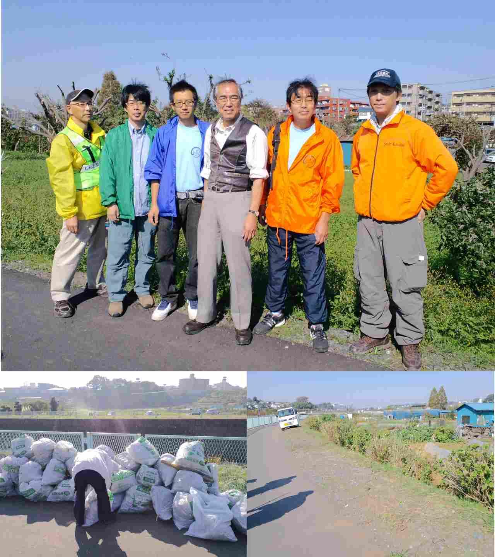 恩田川草刈り2