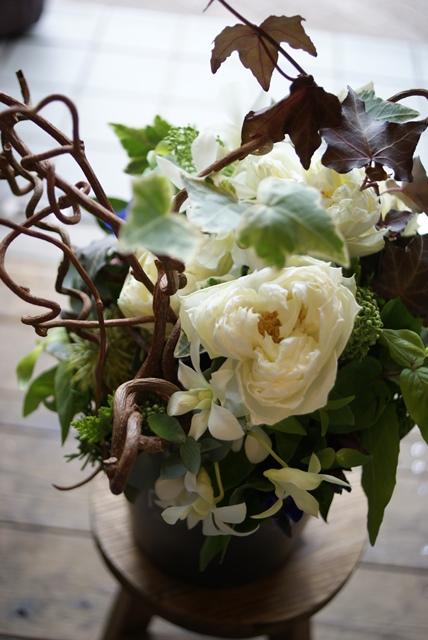 ハート型に開花するバラ ピースオブマイハート