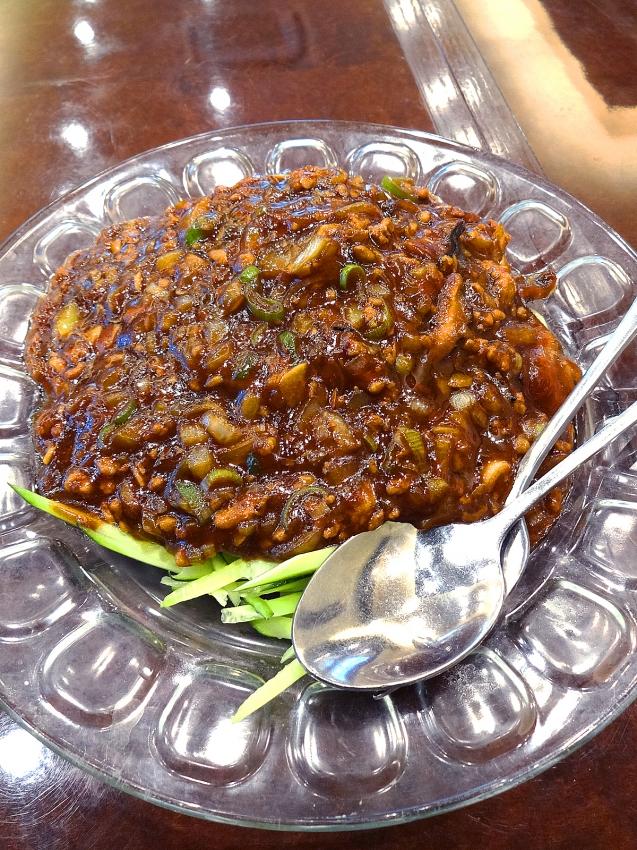 草加の大福源のジャージャー麺