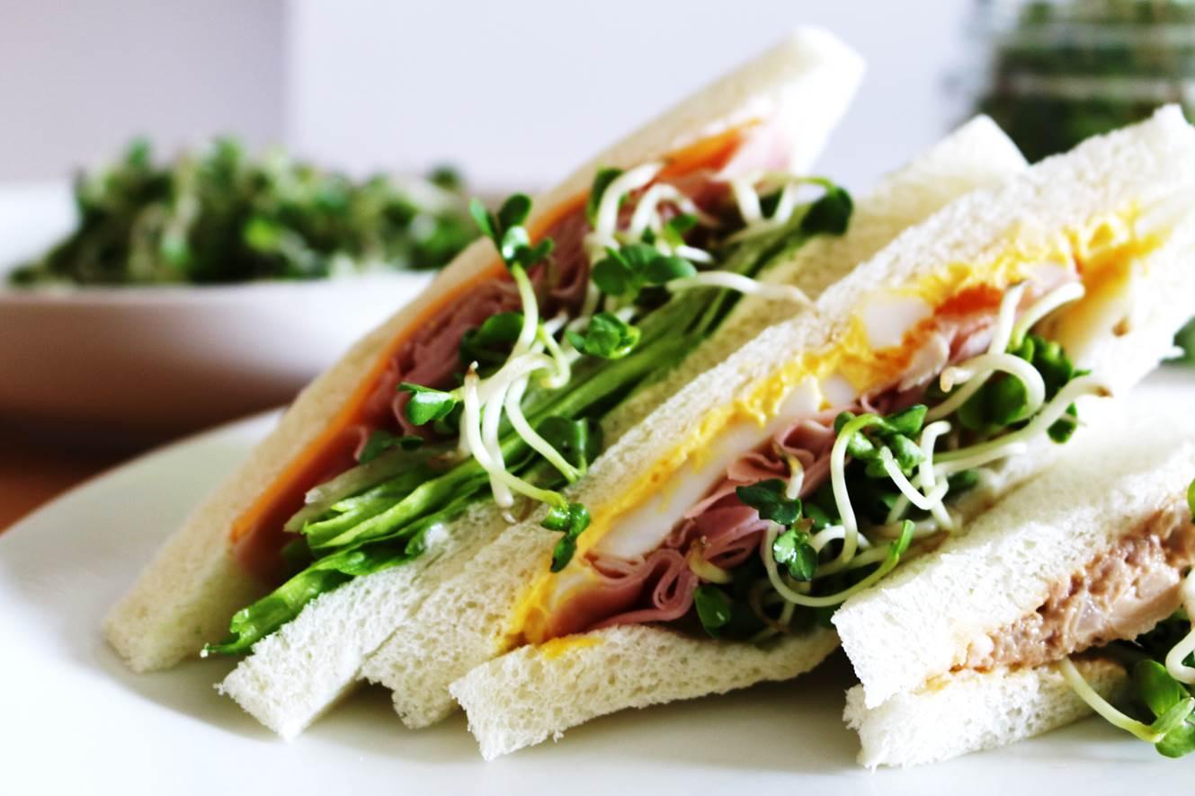 スプラウトでサンドイッチ