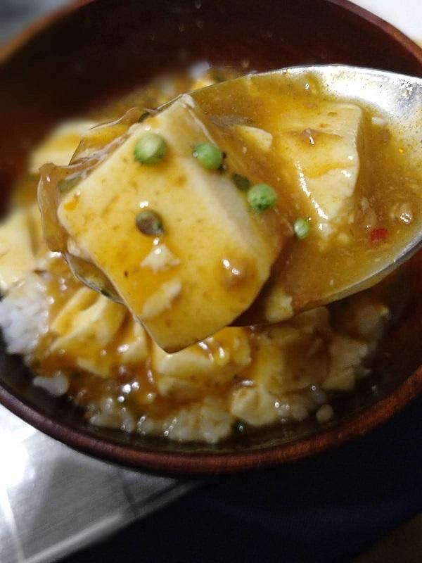 パクチーのまーぼー豆腐