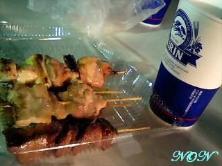 焼き鳥&ビール