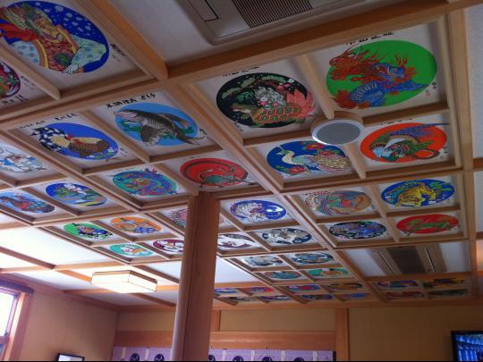 犬山針綱神社控殿の天井絵
