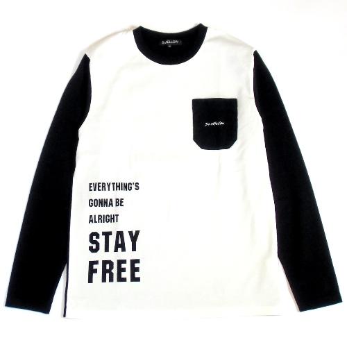 切り替えロングTシャツ Stay Free - So MELLOW