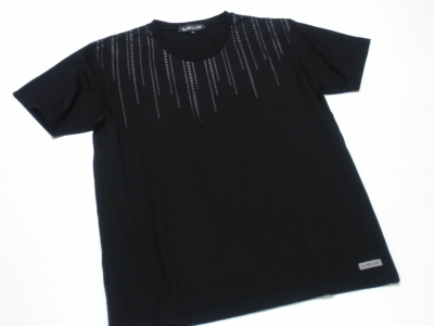 So MELLOW - DOTTED LINES Print T-Shirt. Mercerized Cotton, Made in Japan.