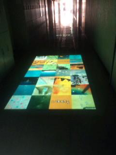 工房前の廊下