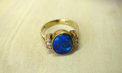 オパール指輪リフォーム