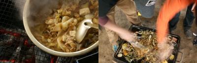 左は仙台風のいも煮、右はまごうことなき焼きそば
